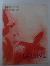 Derrière le miroir  BAZAINE  1975 - Avec 1 envoi et 1 dessin original à l' encre