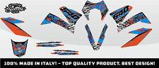 KIT ADESIVI GRAFICHE #CAMOSPLATTER BLUE ORANGE KTM 640 SMC 2005 2006 2007 DEKOR