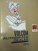 VOLCOM surf snowboard skateboard 100MG BIG Authorized Dealer Cling Sticker New