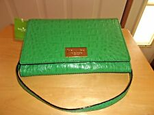 New Kate Spade Fiona Cross Body embossed leather Shoulder Bag  Alligator $298