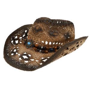 Stylish Sun Block Cowgirl Straw Hat Cowboy Straw Hat for Women