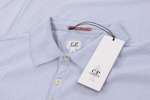 C.P. Company NWT Polo Shirt Short Sleeve Size XL In Light Blue Mako Cotton CP