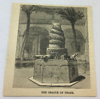 small 1885 magazine engraving~ ORACLE OF PEACE ~ Mexico