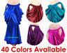 Satin Drape Skirt Swing Belly Dance Costumes Tribal Oriental Jupe Flamenco Slit