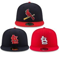 New Era St. Louis Cardinals ALT 59Fifty Fitted Hat MLB Cap RED / NAVY