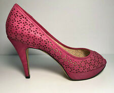 b50000e1d3e01f Enzo Angiolini Heels Coral Pink Suede Peep Toe Sully Platform 4