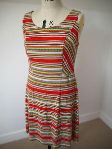 Bravissimo Pepperberry Red Multicolour Sleeveless Aztec Design Dress 16RSC PD581