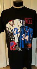 Vintage Nutmeg Buffalo Bills locker tee shirt Jim Kelly vtg NFL Thurman Thomas