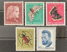 Série PRO JUVENTUTE 1953 : Neuf MNH ** , Mi 588-592