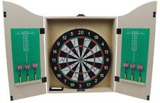 69004 Dart Set , Dartschrank / Kabinett mit Dartscheibe / Board und 6 Pfeilen