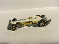 Hot Wheels 2007 Mystery Car 169 F-Racer White Pr5 gold wheels Loose