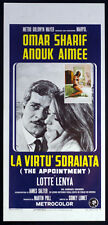 CINEMA-locandina LA VIRTù SDRAIATA sharif,aimee,lenya,LUMET