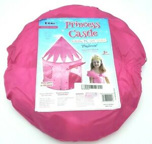 Girls Play Tent House Castle Foldable Princess Indoor Pink
