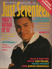 Just Seventeen Magazine 10 August 1988   Jason Donovan Brother Beyond  Kim Wilde