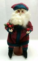 Vintage Santa Claus Figurine Decoration Folk Art Doll Father Christmas Statue