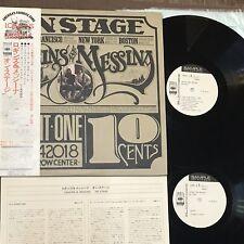 Promo White LOGGINS & MESSINA On Stage JAPAN 2LP SOPW7~8 w/OBI 1974 issue Kenny