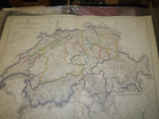 Switzerland Dispatch Atlas map drawn by J.Dower 43x 60cm antique1863Framed40more