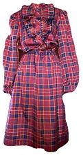 vintage dress Act 1 New York Checkered. Prairie . Size 10-12