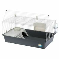 Indoor Rabbit Cage Extra Large Guinea Pigs Front Opening Plastic Hayrack Bowl