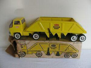 Vintage 1968-69 Tonka Toys Yellow Gas Turbine Bottom Dump Truck w/ Box #2910 VG