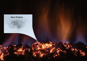 Neon Embers - Glowing Metallic Threads for Gas Fireplaces & Gas Logs