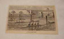 1879 Magazin Gravur ~ Four-Oared Rennen