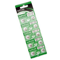 10 AG0 SR63 SG0 379 LR521 SR521 Cell Watch Alkaline Battery Suncom