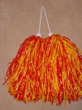 Pair of Rooter Pom Poms *Kansas City Chiefs Colors-Red & Gold*