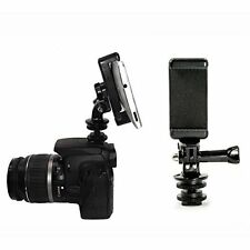 Hot Shoe Adapter with Attachable Phone Mount for use with DSLR Camera.lighting