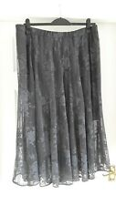 LOVELY * M&S AUTOGRAPH* GREY LACE SKIRT SIZE 22