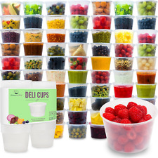 Meal Prep Containers Plastic Food Storage Reusable Microwavable Freezer Safe 50