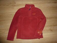 JACK WOLFSKIN Outdoor Fleece Pullover Nanuk S 36 38 TOP Pfote Tatze Pulli