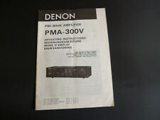 Original Bedienungsanleitung Denon PMA-300V