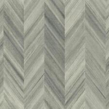 Gradient Chevron in Grey Stripes Faux 3-D Wallpaper GE3600