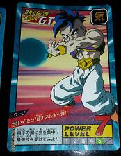 DRAGON BALL GT Z DBZ SUPER BATTLE POWER LEVEL CARDDASS CARD CARTE 852 JAPAN NM