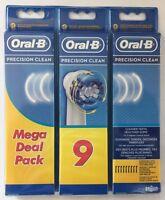 BRAUN Oral B Precision Clean Aufsteckbürsten - NEU & OVP  9 Stück