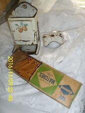 """Collectibles Kitchenware STICK MATCH BOX HOLDER & BOX OF """"DIAMOND"""" MATCHES"""