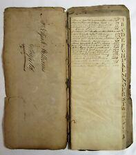 Antique 1796 Deerfield Ma American Manuscript Index Ledger Handwritten Book