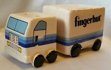 Vintage Fingerhut Semi Truck Tractor Trailer Salt and Pepper Shakers Ceramic
