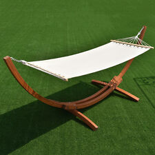 """142"""" x 50"""" x 51"""" Wooden Curved Arc Hammock Stand W/Hammock for Outdoor Patio Us"""