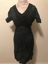 Nu By Staff-Woman Dress Unique Embroidered New NWT Blue Black Size Large L