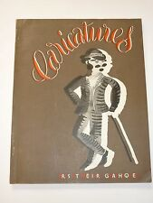 Caricatures, No. 31, September 1932, Arts Et Metiers Graphiques, Illustrated