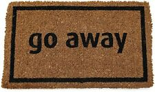 Entryways Non Slip Coir Doormat, 17-Inch by 28-Inch, Go Away Black, New, Free Sh