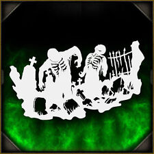 Zombie Silhouette 1 - Airbrush Stencil Template Airsick Zombies