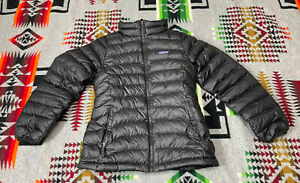 Patagonia Down Puffer Black Jacket Kids Girls size XL 14