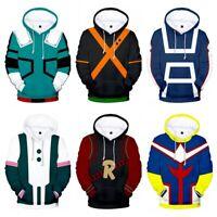 My Boku no Hero Academia Izuku Shoto Bakugou Hoodie Coat Pullover Sweatshirt