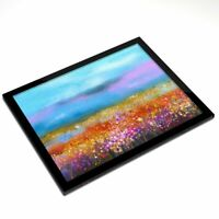 Glass Placemat 20x25 cm - Wildflower Field Painting Flower Art  #12359