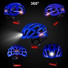 ROCKBROS Ultralight Cycling Road Bike MTB Helmet with Light Size 57-62cm Blue