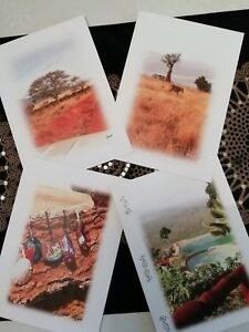 Assorted Greeting Cards, 4 X A5, birthday, friendship, thanks, blank, frameable