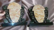 2 Cassolettes Art Déco des années 40 en marbre - Décor géomètrique & stylisé